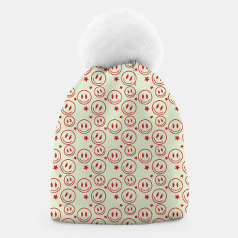 Thumbnail image of Smiley Stars pattern Beanie, Live Heroes