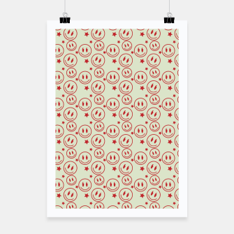 Thumbnail image of Smiley Stars pattern Poster, Live Heroes
