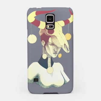 Woman & Skull Samsung Case miniature