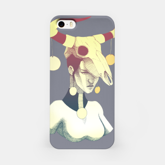 Miniatur Woman & Skull iPhone Case, Live Heroes