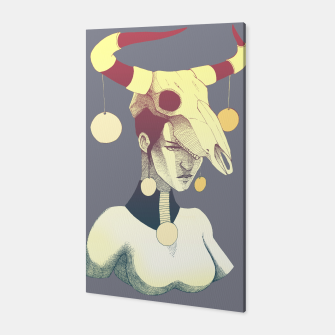 Woman & Skull Canvas thumbnail image