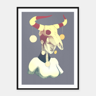 Thumbnail image of Woman & Skull Framed poster, Live Heroes
