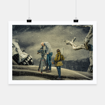 Thumbnail image of Death Research - Contemporary Art Collage Poster, Live Heroes