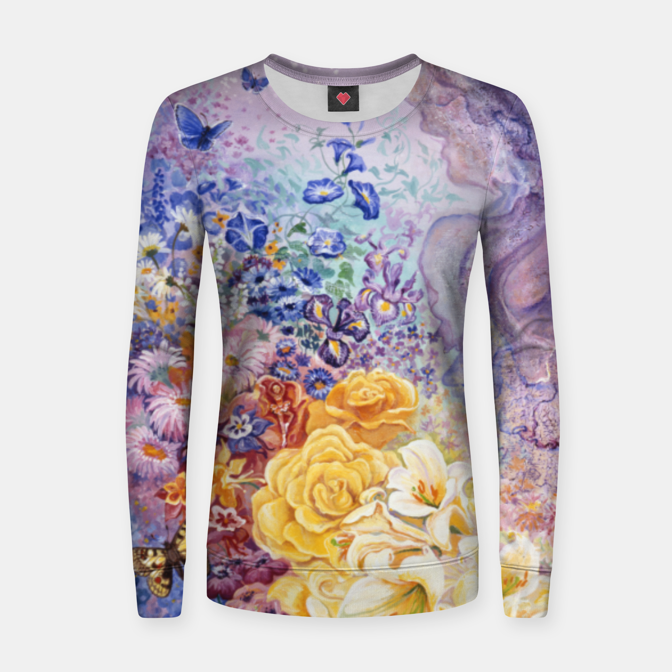 Image of Rainbow Floral Sweater - Live Heroes