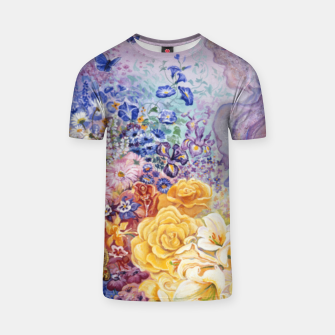 Thumbnail image of Rainbow Floral T-shirt, Live Heroes