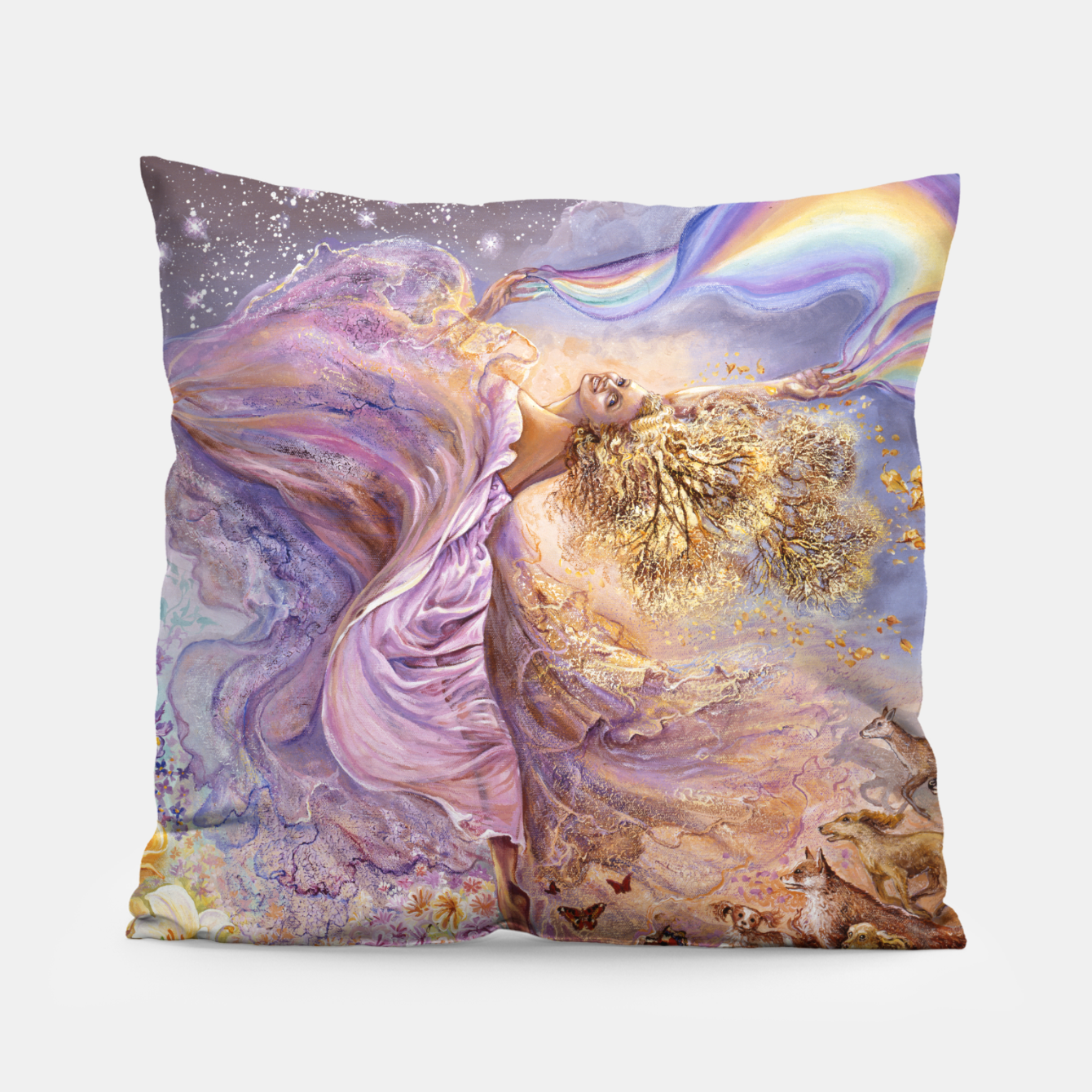 Image of Rainbow Girl II Pillow - Live Heroes