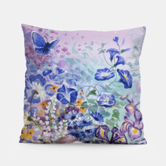 Thumbnail image of Flowers & Butterflies Pillow, Live Heroes