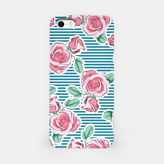 Thumbnail image of Pink Roses Strips iPhone Case, Live Heroes