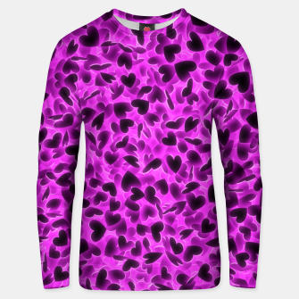 Thumbnail image of Glowing hearts Unisex sweater, Live Heroes