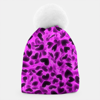 Thumbnail image of Glowing hearts Beanie, Live Heroes