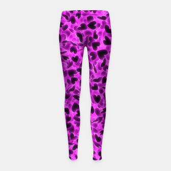 Thumbnail image of Glowing hearts Girl's leggings, Live Heroes
