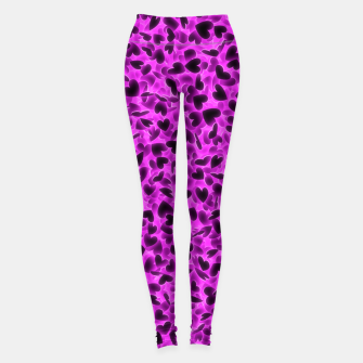 Thumbnail image of Glowing hearts Leggings, Live Heroes