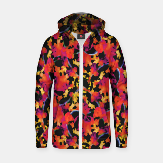 Thumbnail image of Red Floral Collage Print Design Zip up hoodie, Live Heroes