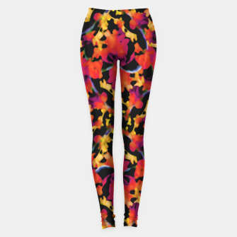 Thumbnail image of Red Floral Collage Print Design Leggings, Live Heroes