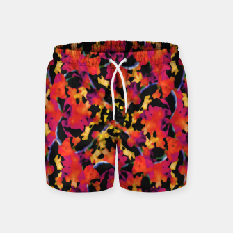 Thumbnail image of Red Floral Collage Print Design Swim Shorts, Live Heroes