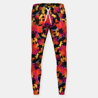 Thumbnail image of Red Floral Collage Print Design Sweatpants, Live Heroes