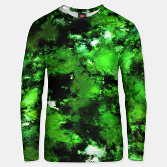 Thumbnail image of Green deflected Unisex sweater, Live Heroes