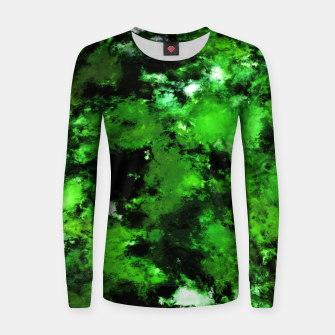 Thumbnail image of Green deflected Women sweater, Live Heroes