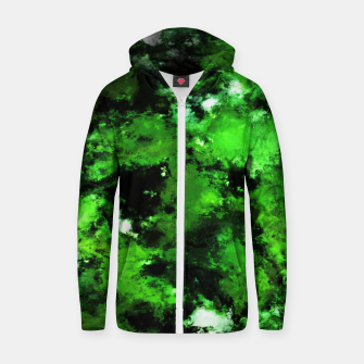 Thumbnail image of Green deflected Zip up hoodie, Live Heroes