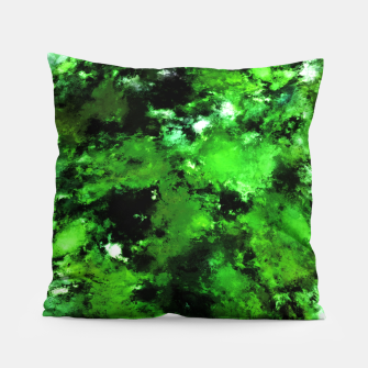 Thumbnail image of Green deflected Pillow, Live Heroes