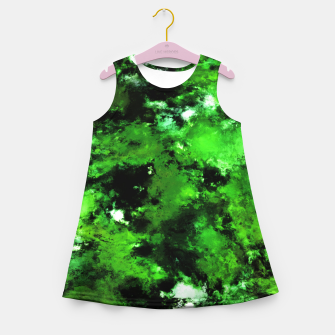 Thumbnail image of Green deflected Girl's summer dress, Live Heroes