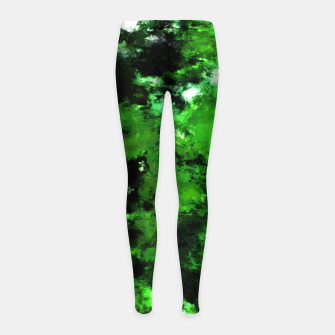 Thumbnail image of Green deflected Girl's leggings, Live Heroes