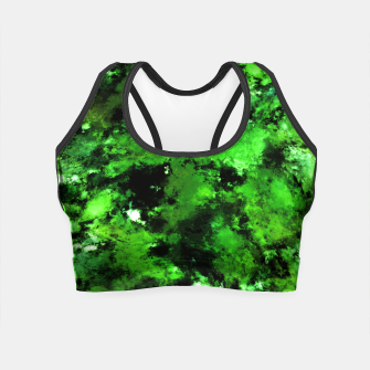 Thumbnail image of Green deflected Crop Top, Live Heroes