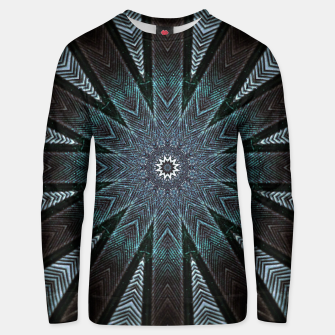 Miniatur Feather cross mandala Unisex sweater, Live Heroes