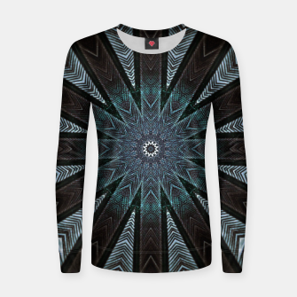 Miniatur Feather cross mandala Women sweater, Live Heroes