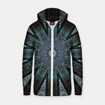 Miniatur Feather cross mandala Zip up hoodie, Live Heroes