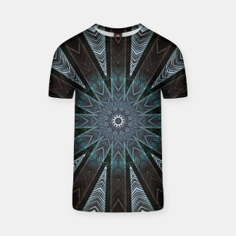 Miniatur Feather cross mandala T-shirt, Live Heroes