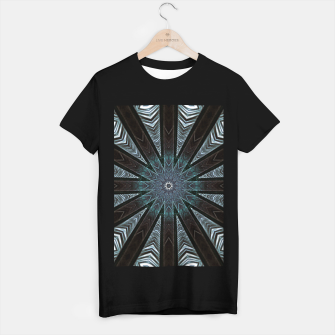 Miniatur Feather cross mandala T-shirt regular, Live Heroes