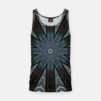 Miniatur Feather cross mandala Tank Top, Live Heroes