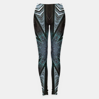 Miniatur Feather cross mandala Leggings, Live Heroes