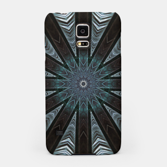 Miniatur Feather cross mandala Samsung Case, Live Heroes