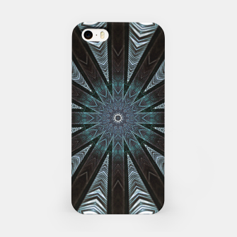 Miniatur Feather cross mandala iPhone Case, Live Heroes