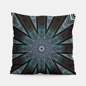 Miniatur Feather cross mandala Pillow, Live Heroes