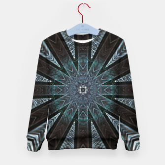 Miniatur Feather cross mandala Kid's sweater, Live Heroes