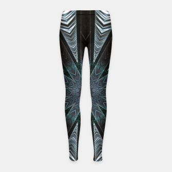 Miniatur Feather cross mandala Girl's leggings, Live Heroes