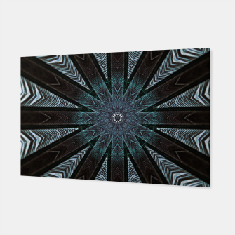 Miniatur Feather cross mandala Canvas, Live Heroes