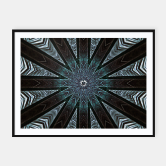 Miniatur Feather cross mandala Framed poster, Live Heroes