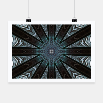Miniatur Feather cross mandala Poster, Live Heroes