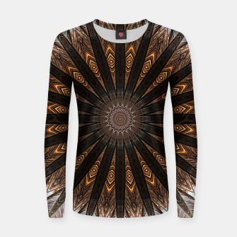 Miniatur Feather mandala Women sweater, Live Heroes