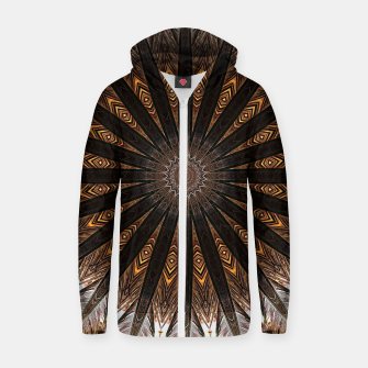 Miniatur Feather mandala Zip up hoodie, Live Heroes