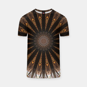 Miniatur Feather mandala T-shirt, Live Heroes