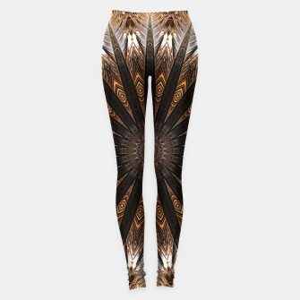 Miniatur Feather mandala Leggings, Live Heroes
