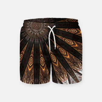 Miniatur Feather mandala Swim Shorts, Live Heroes