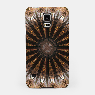 Miniatur Feather mandala Samsung Case, Live Heroes