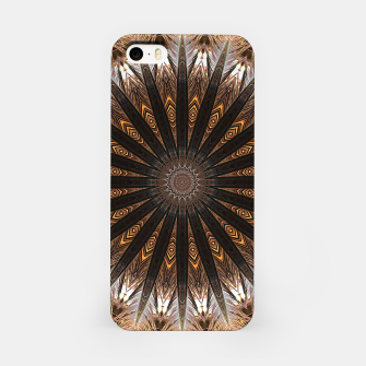 Miniatur Feather mandala iPhone Case, Live Heroes