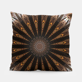 Thumbnail image of Feather mandala Pillow, Live Heroes
